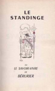 Le Standinge page de titre