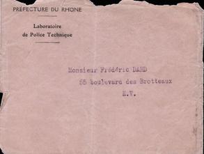 enveloppe de la lettre du 10 juillet 1944