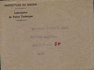 enveloppe lettre 24 mars 1951