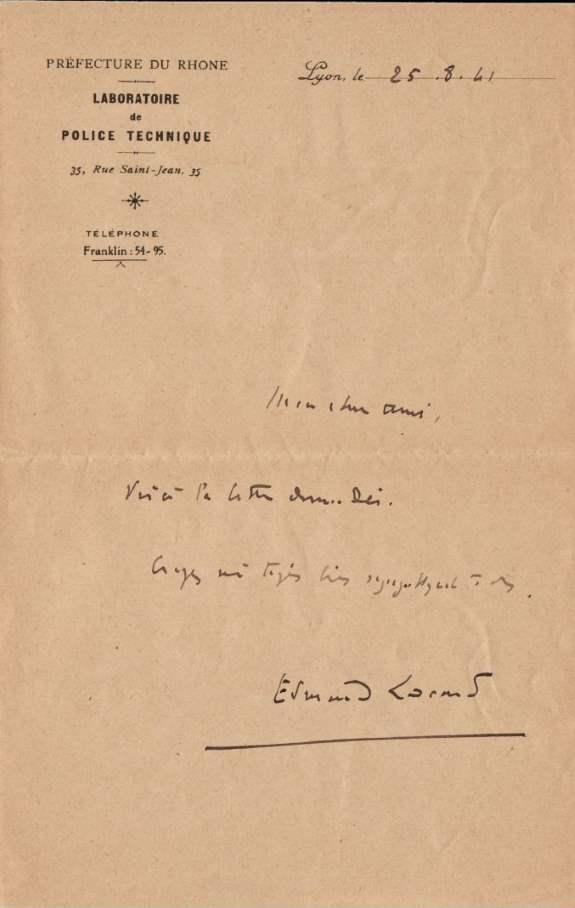 lettre 25 aout 1941