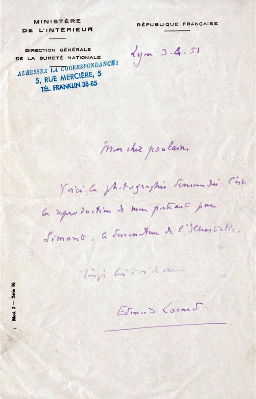 lettre 3 avril 1951