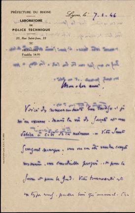 lettre de 07 janvier 1946