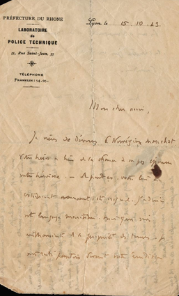 lettre 15 octobre 43