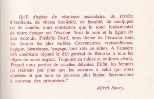 Les Chefs-d'Oeuvre de la Littérature d'Action Préface A.Sauvy