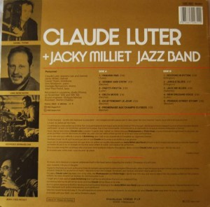 Disque Claude Luter back