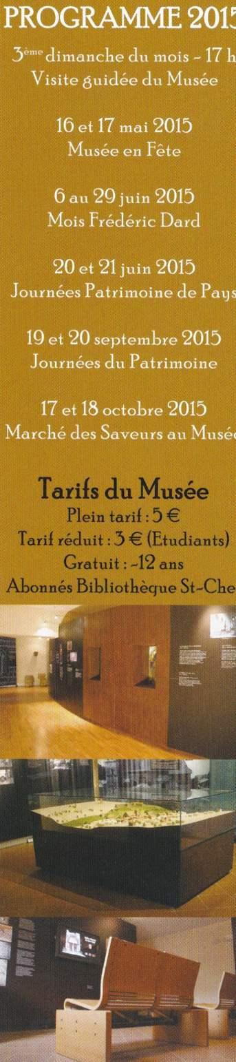 Marque pages Musée de Saint Chef back