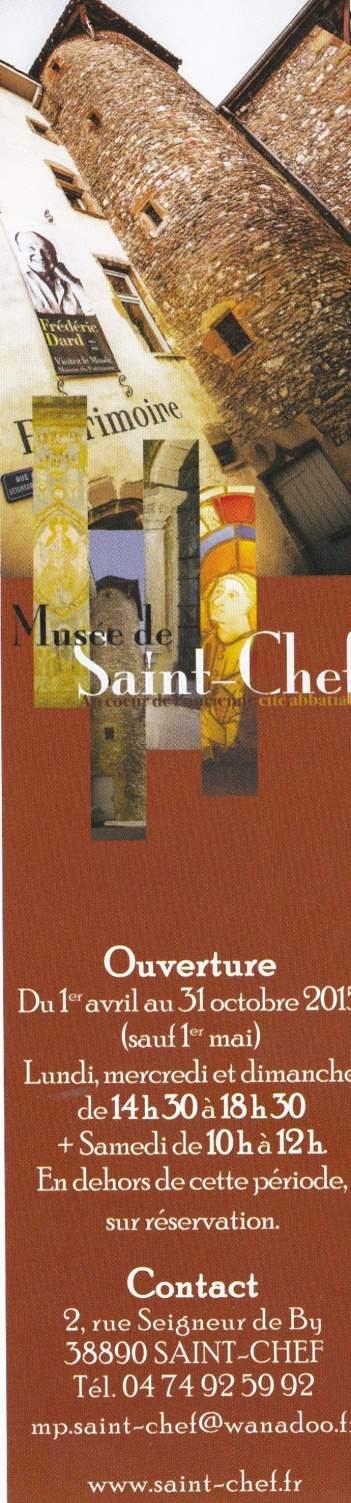 Marque pages Musée de Saint Chef