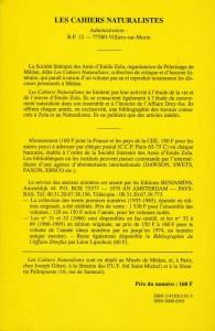 Les cahiers naturalistes n°71 back