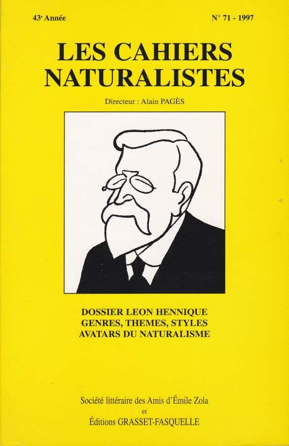 Les cahiers naturalistes n°71