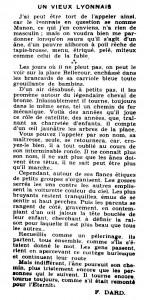 Le Mois à Lyon, 7ème année, n°2, article F. Dard