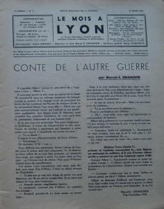 Le Mois à Lyon, 8ème année, n°3 intro