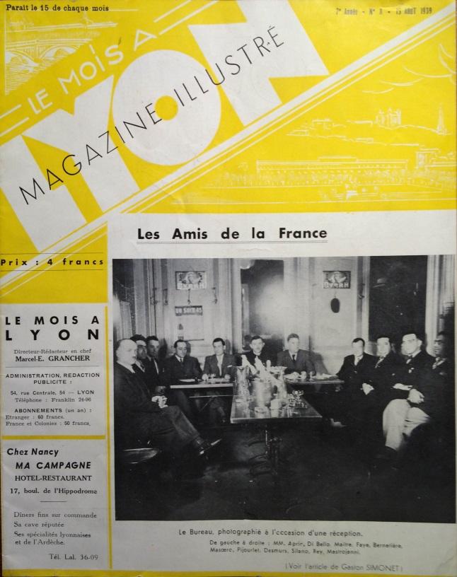 Le Mois à Lyon août 1939