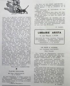 Le Mois à Lyon décembre 1939 Les Lettres Texte Dard