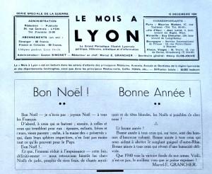 Le Mois à Lyon décembre 1939-edito 1