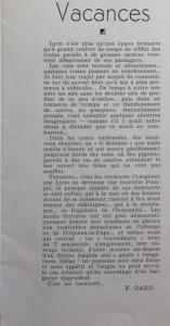 Le Mois à Lyon juillet 1939 texte Vacances Dard