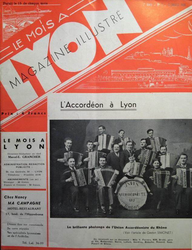 Le Mois à Lyon juillet 1939