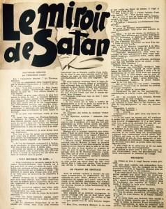 mes lectures 26 le miroir de Satan