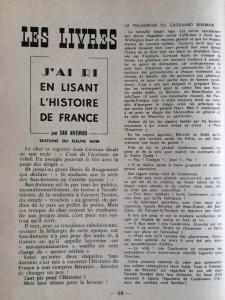 Eclats de rire 4 critique de l'histoire de France vue par San-Antonio