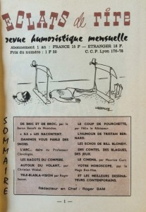 Eclats re rire n°15 sommaire