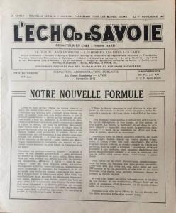 L'écho de Savoie n°1editorial