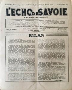 L'écho de Savoie n°3editorial.J