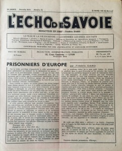 L'Echo de savoie n°10 éditorial