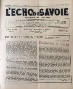 L'Echo de savoie n°11 éditorial