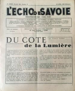 L'Echo de savoie n°12 éditorial