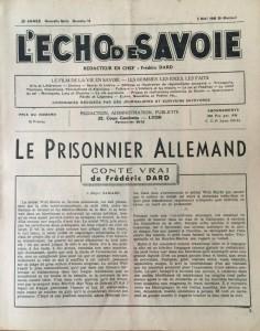 L'Echo de savoie n°13 editorial