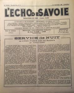 L'Echo de savoie n°8 page éditorial