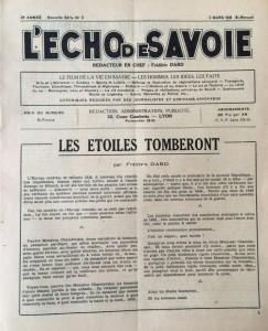 L'Echo de savoie n°9 éditorial
