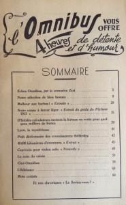 L'Omnibus n°10 sommaire