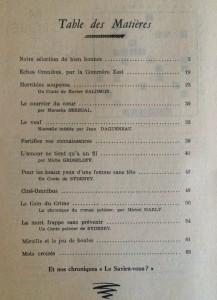 L'Omnibus n°11 sommaire