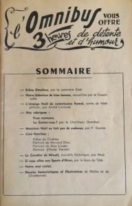 L'Omnibus n°3 sommaire