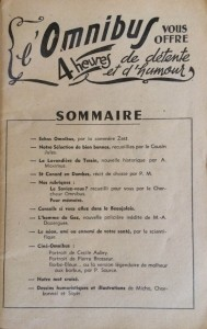 L'Omnibus n°4 sommaire