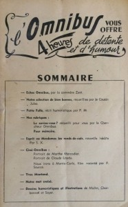 L'Omnibus n°5 sommaire