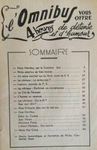 L'Omnibus n°6 sommaire