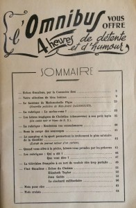 L'Omnibus n°7 sommaire
