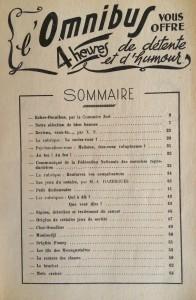 L'Omnibus n°8 sommaire