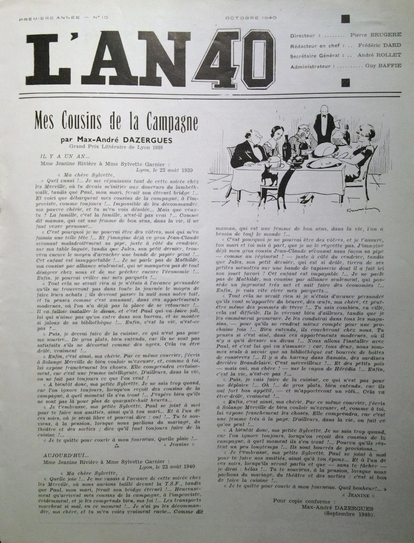L'AN 40 n°10