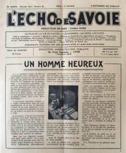 L'Echo de Savoie n°20 éditorial