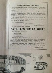 L'Echo de Savoie n°27 1er janvier 1949 encart pour Batailles sur la route