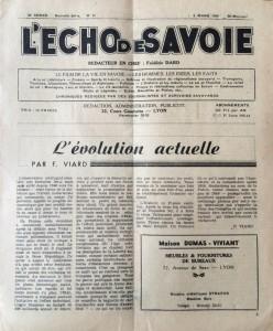 L'Echo de Savoie n°31 éditorial