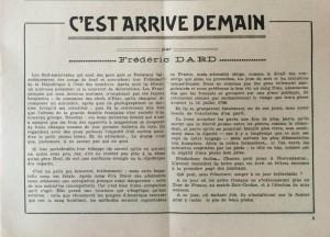 L'Echo de savoie n°21.editorial
