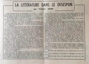 L'Echo de Savoie n°25 éditorial.