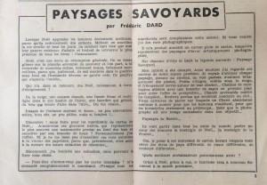 L'Echo de savoie n°26 éditorial.