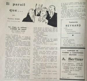 Le Mois à Lyon 15 janvier 1942 texte dard