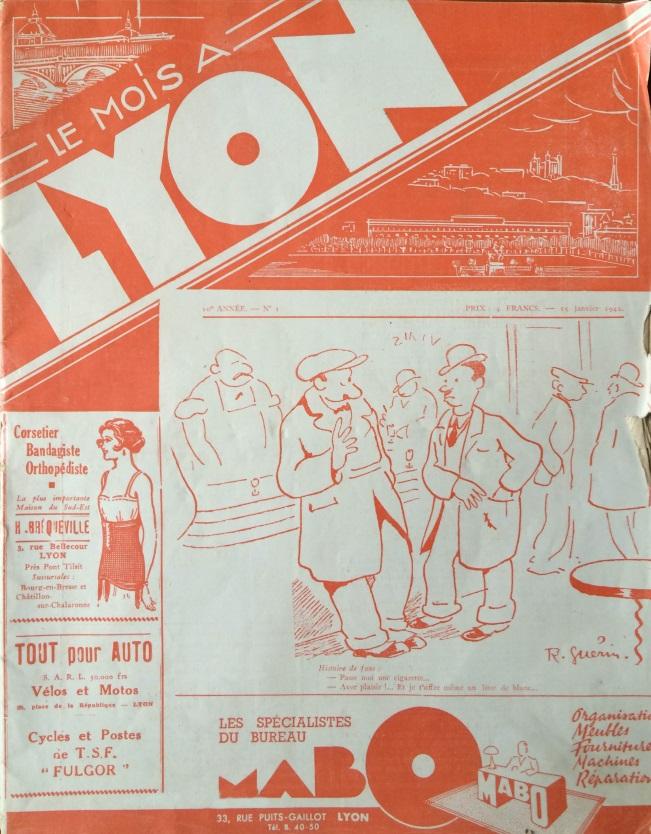 Le Mois à Lyon 15 janvier 1942