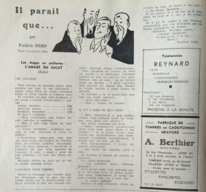 Le Mois à Lyon 25 mars 1942 il parait que