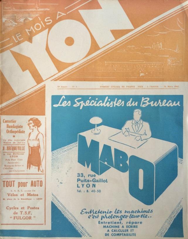 Le Mois à Lyon 25 mars 1942